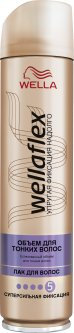 Лак для волос Wella Wellaflex Объём для тонких волос Суперсильная фиксация 250 мл (4056800888641)