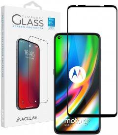Защитное стекло ACCLAB Full Glue для Motorola Moto G9 Plus Black (1283126509049)