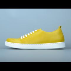 Кеды KARABADGAK Heath, желтые, шнурки силиконовые 43
