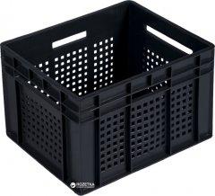 Ящик пластиковый перфорированный Полимерцентр 433х347х283 мм Черный (ST4328R-3-BK)