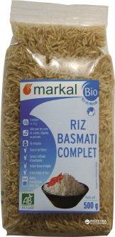 Рис Markal длиннозерный неочищенный басмати органический 500 г (3329485411208)