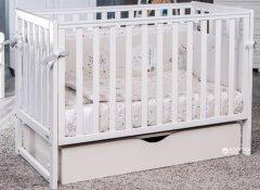 Детская кроватка Twins Pinocchio с маятниковым механизмом и выдвижным ящиком Белая (5900006612014)