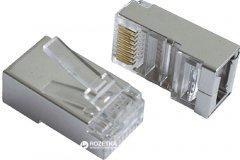 Коннектор Patron FTP RJ 45 Cat.5e экранированный 8P8C 40 шт (CON-RJ-45-8P8C-40-Э)