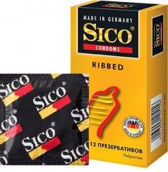 Презервативы Sico Ribbed 12 шт (4013006105156)