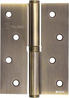 Петля дверная Paladii 100x75 мм правая 2 шт Бронзовая (ПП047)