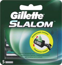 Сменные картриджи для бритья (лезвия) мужские Gillette Slalom с увлажняющей полоской 5 шт (7702018867912)