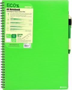 Блокнот Mintra Eco Pen A4 в клетку 80 листов Зеленый (945315)