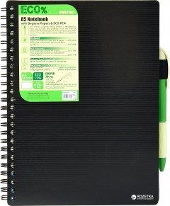 Блокнот Mintra Eco Pen A5 в клетку 80 листов Черный (985452)