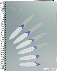 Блокнот Mintra Steel Class A4 в клетку 150 листов Серый (982404)