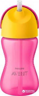 Чашка с трубочкой Philips AVENT 300 мл 12 мес+ Розовая (SCF798/02)