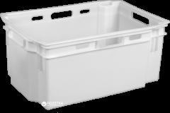 Ящик пластиковый сплошной Полимерцентр 600х400х270 мм Белый (N6427-1)