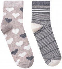 Набор носков Премьер Сокс 14В35/1М 36-40 2 пары Серый с розовым (4820163318011)