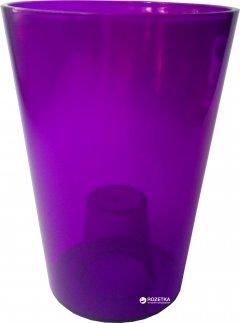 Вазон Lamela Лилия круглый 12.8 см Фиолетово-прозрачный (379-11)