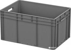 Ящик пластиковый для продуктов iPlast ЕС усиленное дно 600х400х320 мм Серый (12.312.91 (ЕС 6432.3))