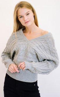 Пуловер Remix 7791 One Size Серый (2950006324939)