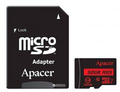 Apacer microSDHC 32GB UHS-I U1 Class 10 (R85 MB/s) + SD-adapter (AP32GMCSH10U5-R)