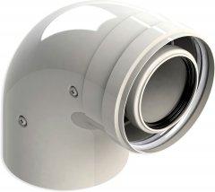 Колено коаксиальное раструб GROPPALLI для конденсационных котлов 90°, 60/100 мм (A38163)