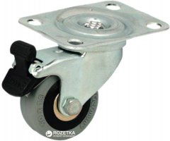 Резиновый ролик Hafele 60 мм поворотный с фиксатором 75 кг (663.16.920)