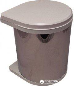 Контейнер для мусора Hafele из нержавеющей стали 15 л Серый (502.12.023)