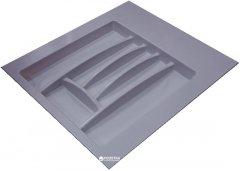 Лоток для столовых приборов Hafele пластиковый 500-550 мм Серый (556.46.506)