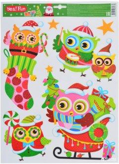 Наклейки новогодние Новогодько (YES! Fun) 801093 41 х 29 см (5056137106813)