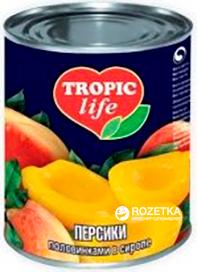 Персики половинками в сиропе Tropic Life 425 мл (4820086920117) (5060162900896)