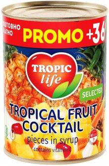 Тропический фруктовый коктейль в сиропе Tropic Life 425 мл (4820086920018 / 5060162901206)