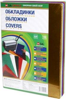 Обложка для переплета пластиковая 180мкм DA А4 100 шт Ассорти (1220102020100)
