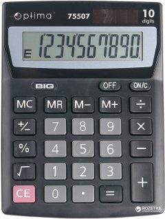 Калькулятор электронный Optima 10-разрядный (O75507)