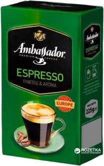 Кофе молотый Ambassador Espresso 225 г (8719325127126)
