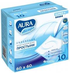 Простыни гигиенические Aura 60x60 см 10 шт (4751023293486)