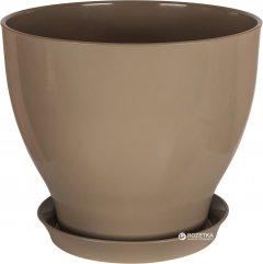 Вазон для растений CERAMIKA DESIGN Ксения КС 5 глянец 27 см Серо-коричневый (кц-6130)