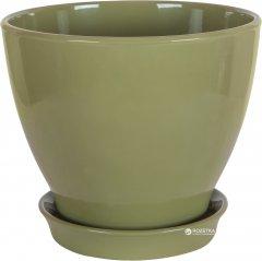 Вазон для растений CERAMIKA DESIGN Ксения КС 9 глянец 47 см Оливковый (кц-3762)