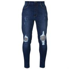 Джинси No Fear Check Knee Jeans Mens 32WR Dark Wash (4216328)