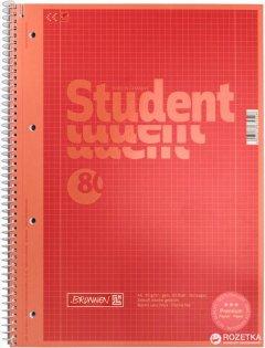 Колледж-блок Brunnen А4 Premium в клетку 80 листов Красный (10-679 28 123)