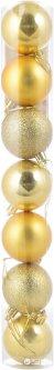 Набор елочных шаров Новогодько (YES! Fun) 50 мм 7 шт Золотистый (972553) (5056137103751)