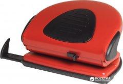 Дырокол металлический с линейкой Scholz 20 листов Красный (8591662431919)