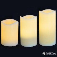 Набор восковых LED свечей для улицы Новогодько (YES! Fun) 3 шт. (710339)(5056137108763)