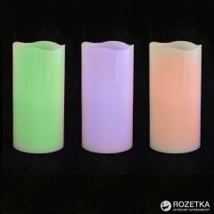 Свеча восковая LED Новогодько (YES! Fun) 7.5 x 15 см Хамелеон (710355)(5056137108848)
