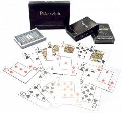 Карты игральные покерные пластиковые Duke Poker Club 54 листа 87x62 мм Синие (DN26238BL)