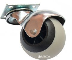 Мебельный ролик Smart 50 мм резиновый с площадкой круглый 25 кг Серый (VR81057)