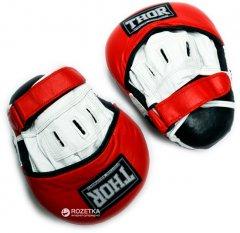 Лапы боксерские Thor 820 Leather Black-Red-White