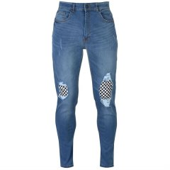 Джинси No Fear Check Knee Jeans Mens 30WR Mid Wash (4935895)