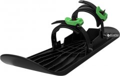 Монолыжа Plastkon OneFoot Miniski Черная с зеленым (8595096962193)
