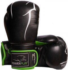 Боксерские перчатки PowerPlay 3018 14 унций Black/Green (PP_3018_14oz_Black/Green)