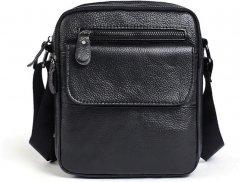 Мужская кожаная сумка-планшет Vintage leather-14704 Черная