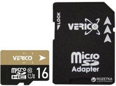 Verico MicroSDHC 16GB UHS-I Class 10 + SD adapter (1MCOV-MAH9G3-NN)