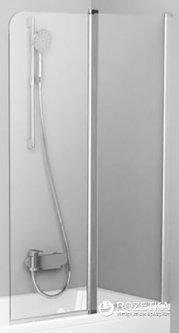 Шторка для ванны RAVAK 10CVS2-100 Transparent 7QRA0C03Z1 полированный алюминий правосторонняя