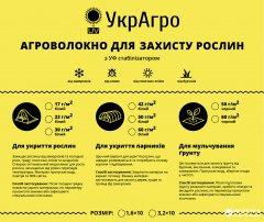 Укрывной нетканый материал УкрАгро 50 UV 1.6 x 10 м Белый (4820193000221)