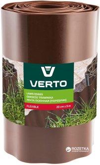 Газонный бордюр Verto 20x900 см Коричневый (15G515)